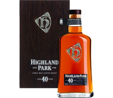 Highland Park Single Malt 40 Years Scotch Whisky Orkney Islands