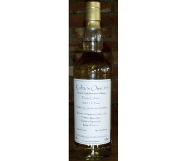 Kaleu's Own #3 Private Edition 12 Years Speyside Single Malt Scotch