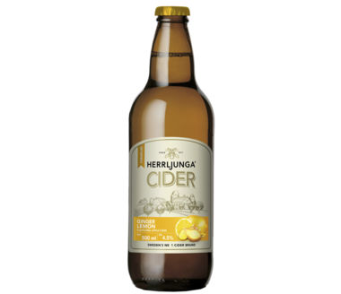 Herrljunga Ginger Lemon Flavoured Pear Cider Premium Swedish
