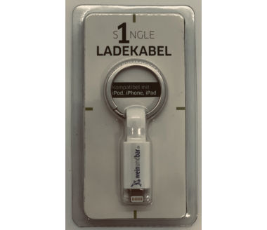 Ladekabel Single kompatibel iPhone, iPad, iPod weinundbar