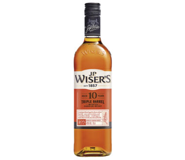 J.P. Wisers 10 years Blended Canadian Whisky Triple Barrel